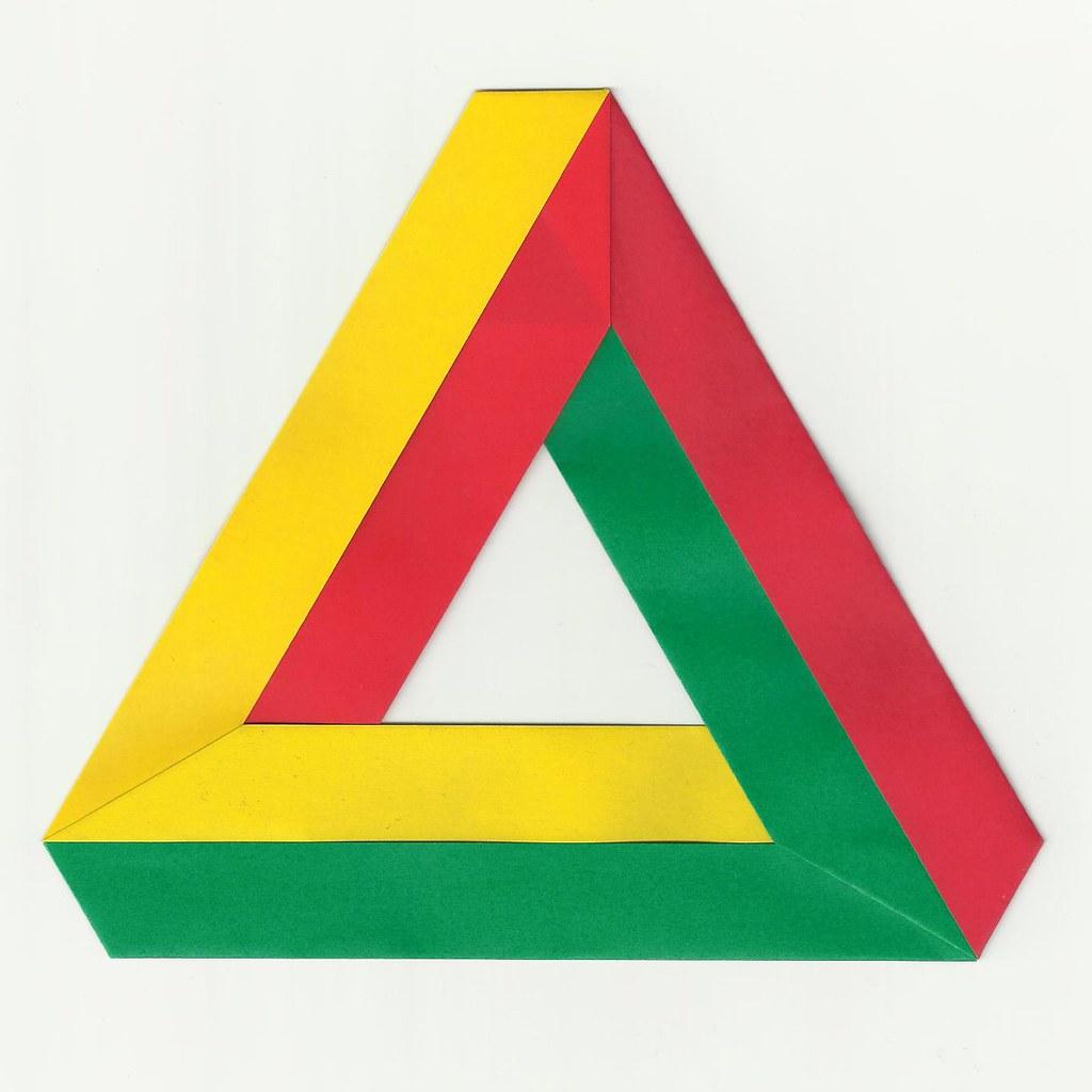 Как сделать треугольник пенроуза из бумаги