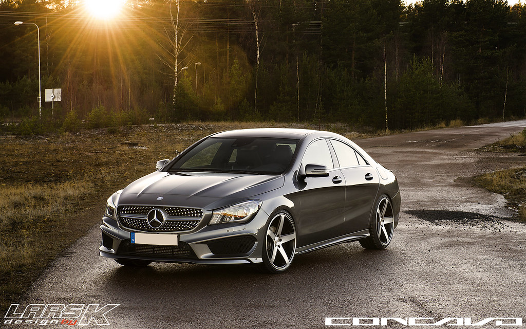 Mercedes Benz Cla On Cw 5 Matte Black Machined Face Flickr