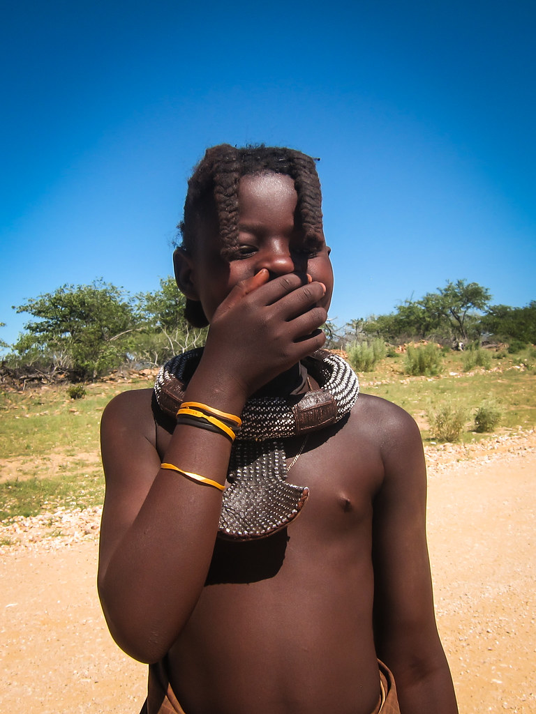 Himba kids in Kaokoland | Taken on 30 March 2014 in Namibia ...: https://www.flickr.com/photos/jbdodane/13801452445/