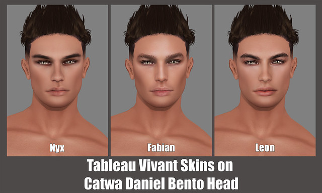 Tableau Vivant Skins on Catwa Daniel Bento Head