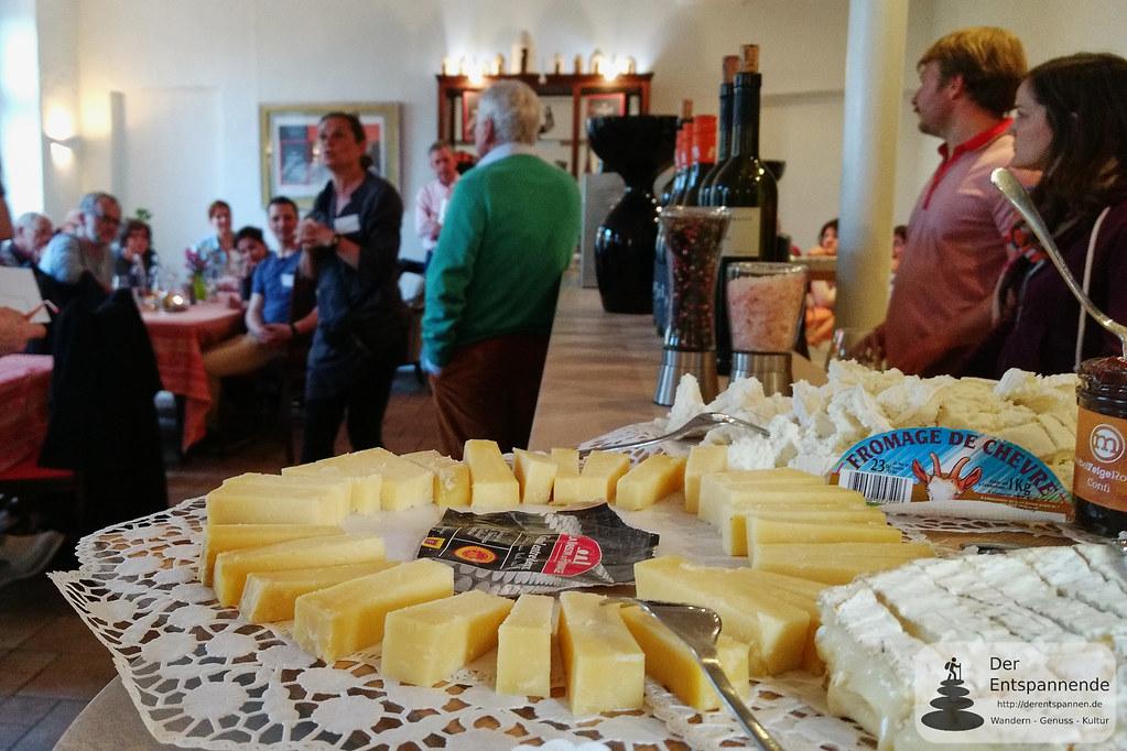 Käse am Abend des Vinocamp Rheinhessen 2017 im Weingut Engel