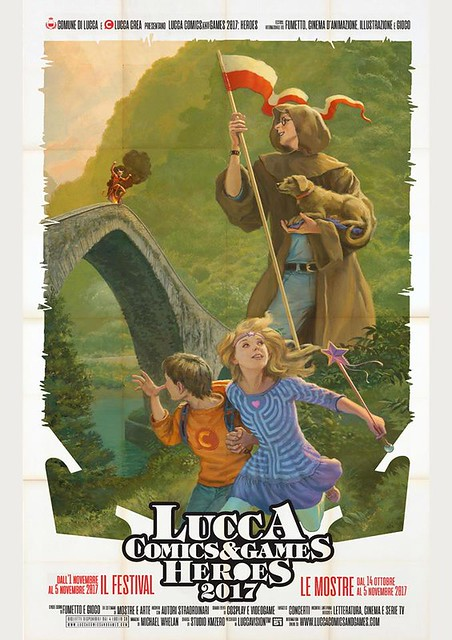 Michael Whelan for Lucca Comics and Games 2017 - Official Poster