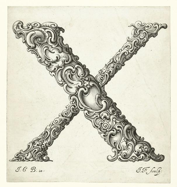 023-Letra X -Libellus Novus Elementorum Latinorum -J. C. Bierpfaff-  Rijksmuseum