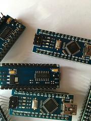 Arduino Nano 3.0 mit WCH340G zur seriellen Verbindung.