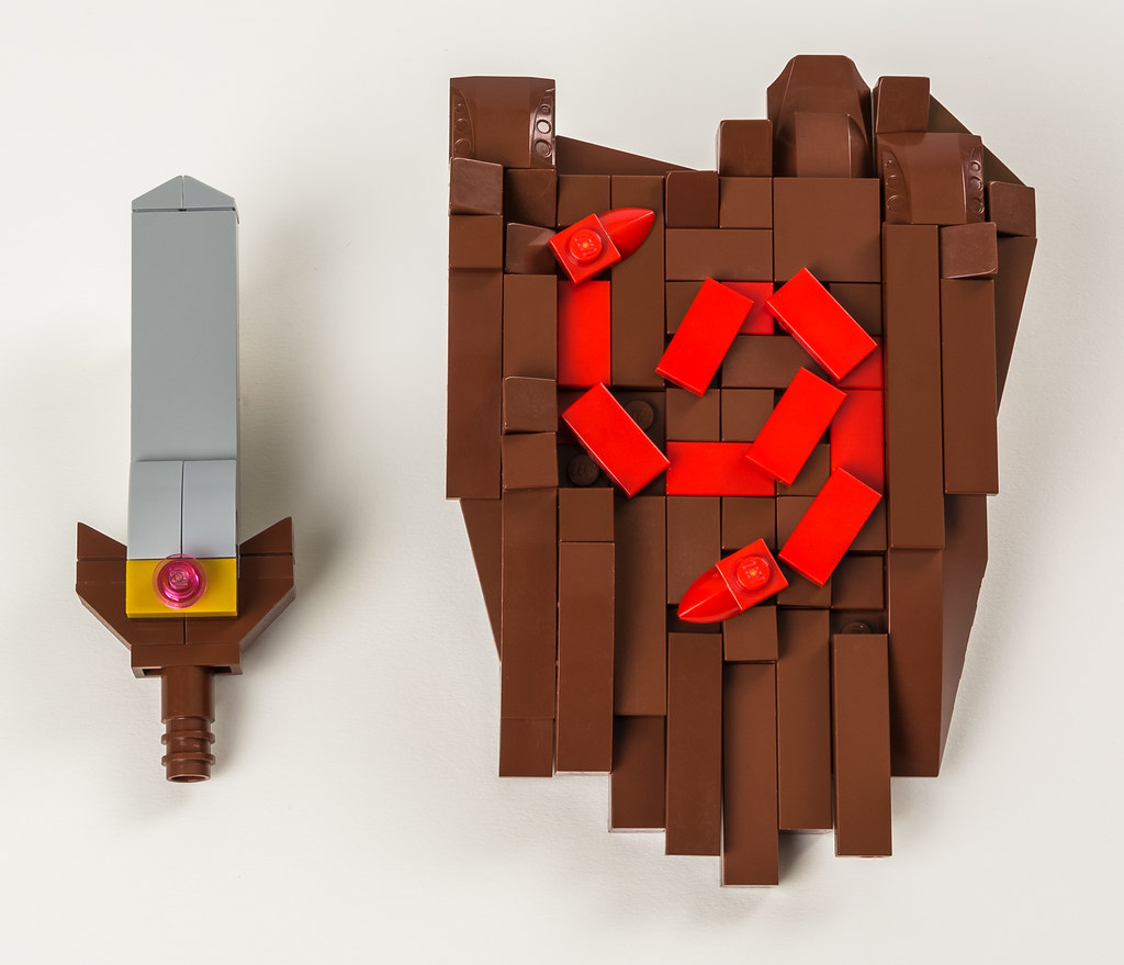 kokiri sword and deku shield accessories for my kid link