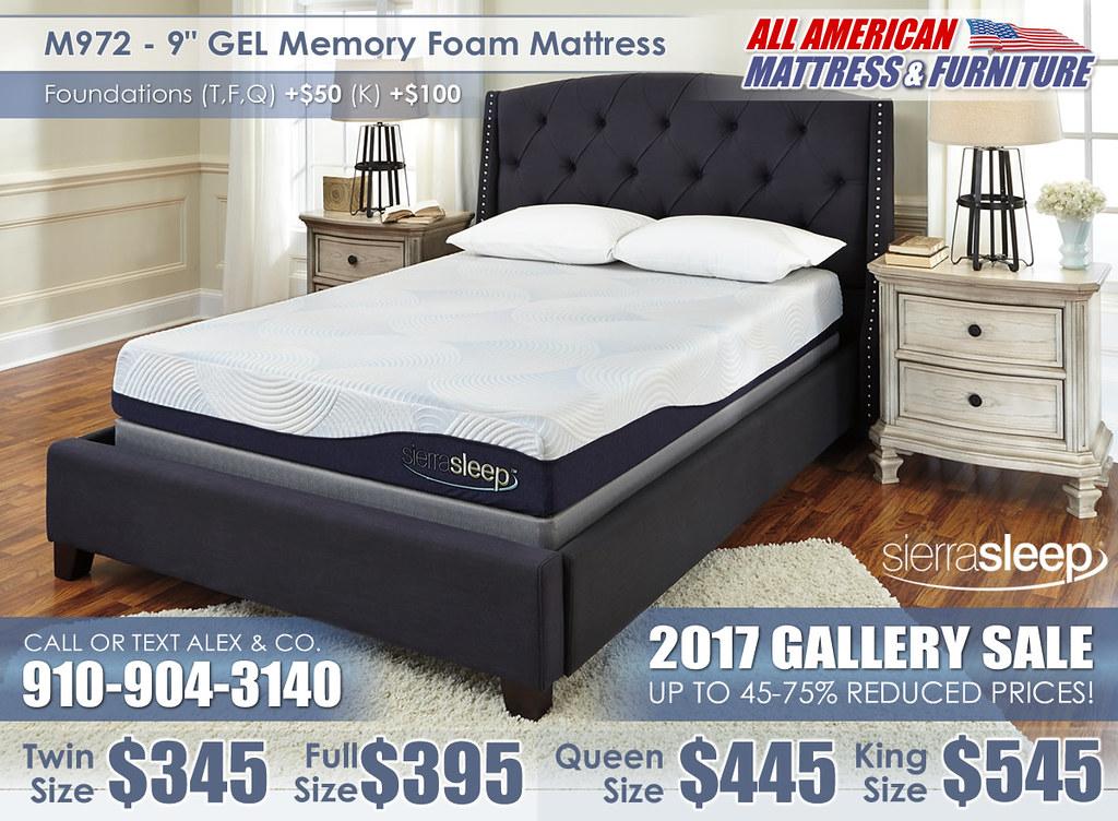 M972 9in GEL Memory Sierra Sleep 2017 Special