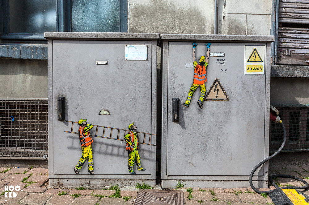 New Ostend stencil work from Belgian Street artist Jaune