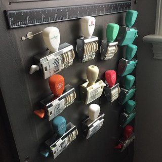 Roller stamp storage, magnetic | by thepapergoddess