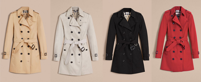 burberry heritage sandringham womens trench coat colors