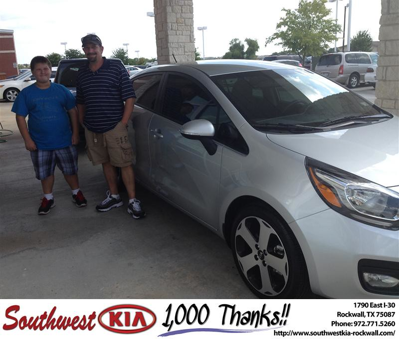 Thank You To Curtis Kelley On The 2013 Kia Rio From Kathy