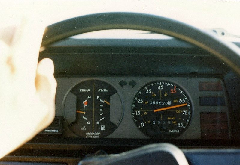 1981 Toyota Tercel Dashboard, I-29 Northbound, North Dakota