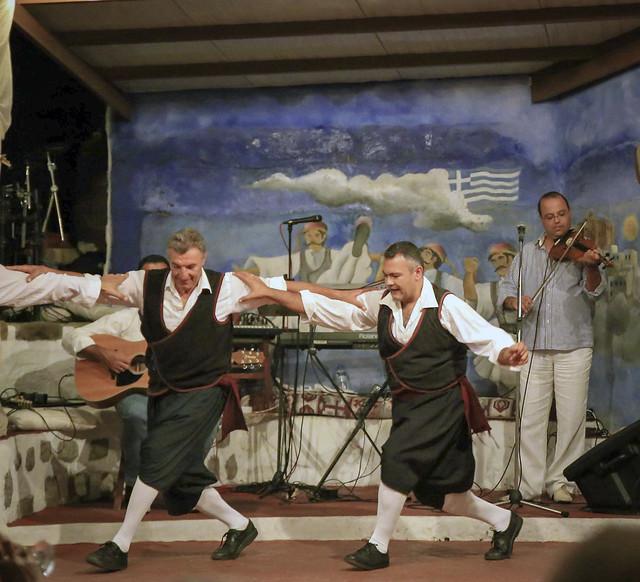 Greek folk dancers
