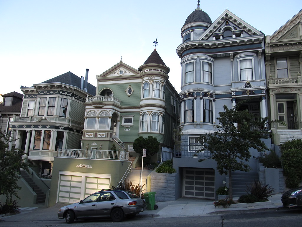 City Of South Gate >> Victorian Mansions of Alamo Square Neighborhood, San Franc ...
