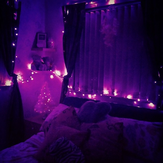 my pretty christmas lights bedroom cosy christmas tree purple lights