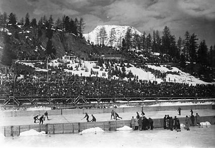 St Moritz 1928 Olympic hockey 3