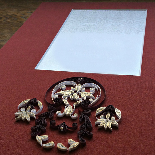Quilled Wedding Invitation Mat