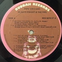 GLADYS KNIGHT & THE PIPS:PIPE DREAMS(LABEL SIDE-A)