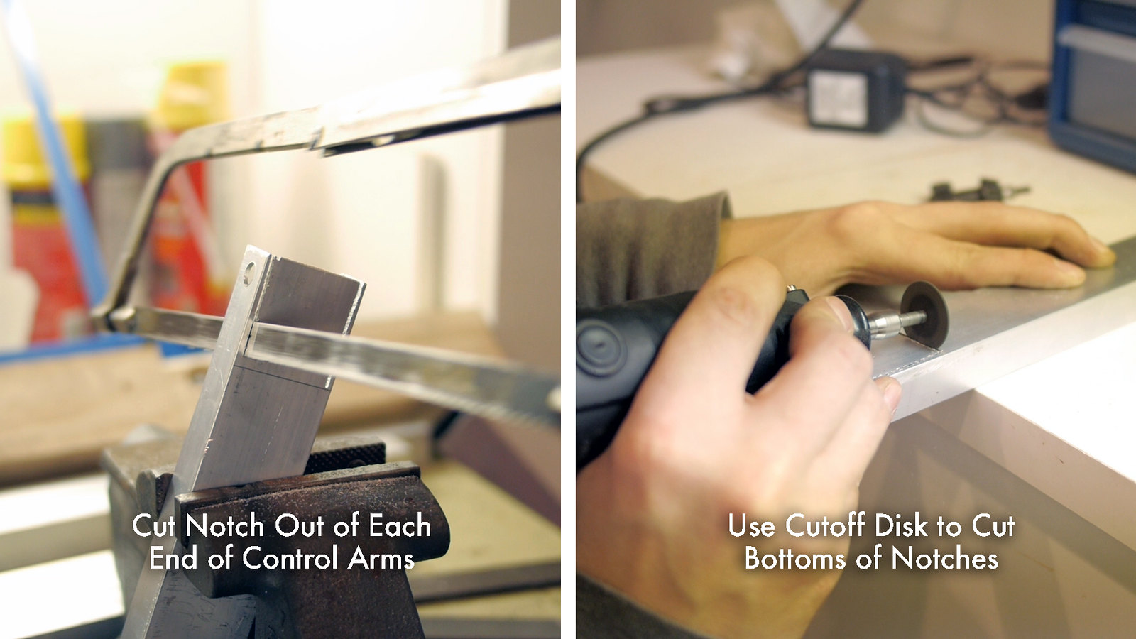 Cut Notches in Control Arms
