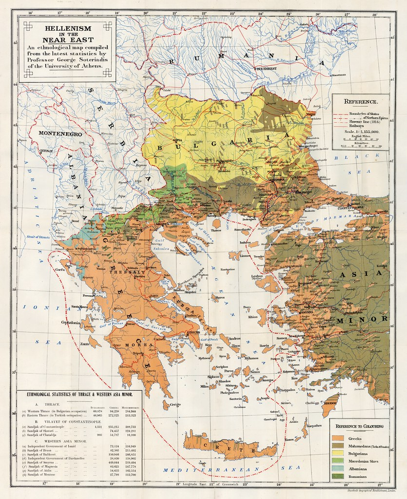 Ethnological map of Greece (1918)