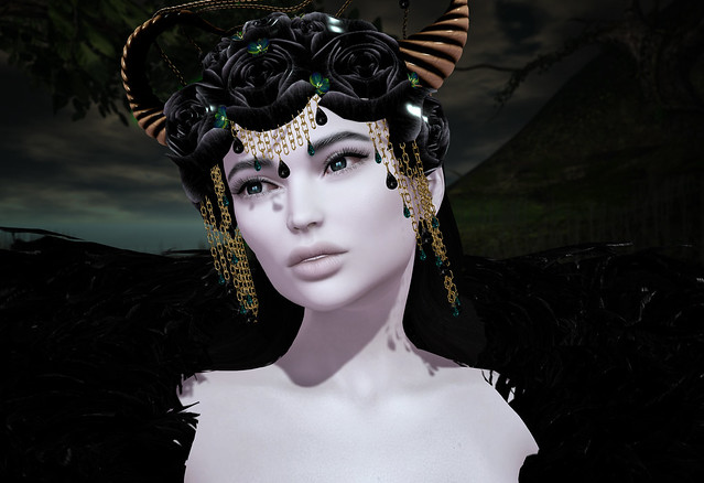 Lilith head dress, Zuri Jewelry @ April Swank
