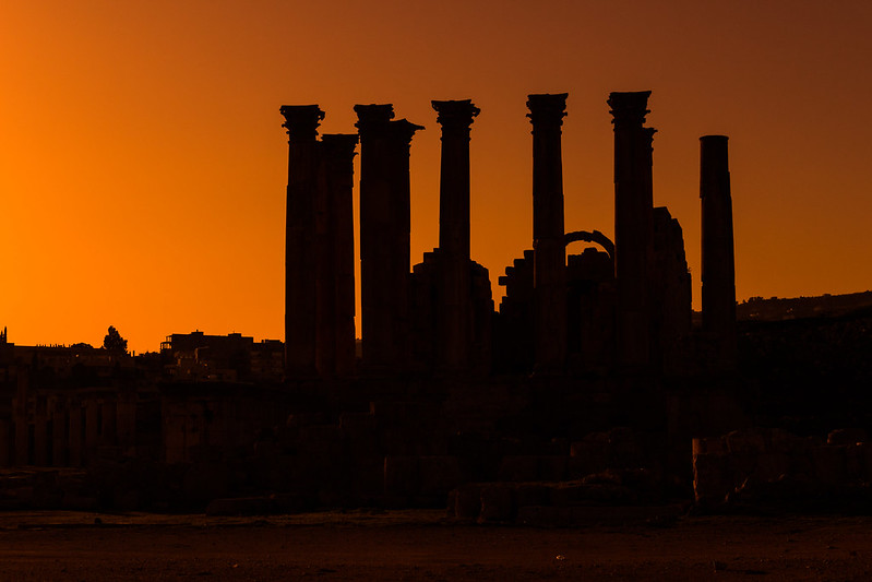 Sunset over the Temple of Artemis