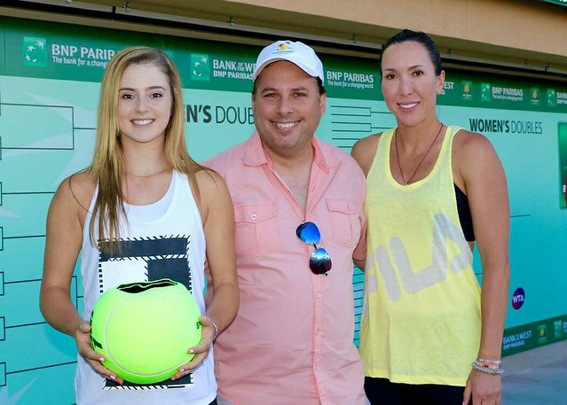 Tony with CiCi Bellis and Jelena Jankovic