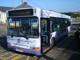 Failed First Cymru bus in Johnston