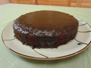 Just Chocolate Cake with Gooey Ganache