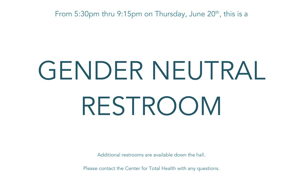 Gender Neutral Restroom 25859 We Know From Talking With
