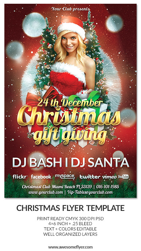 Christmas Gift Giving Club And Party Psd Flyer Template Flickr