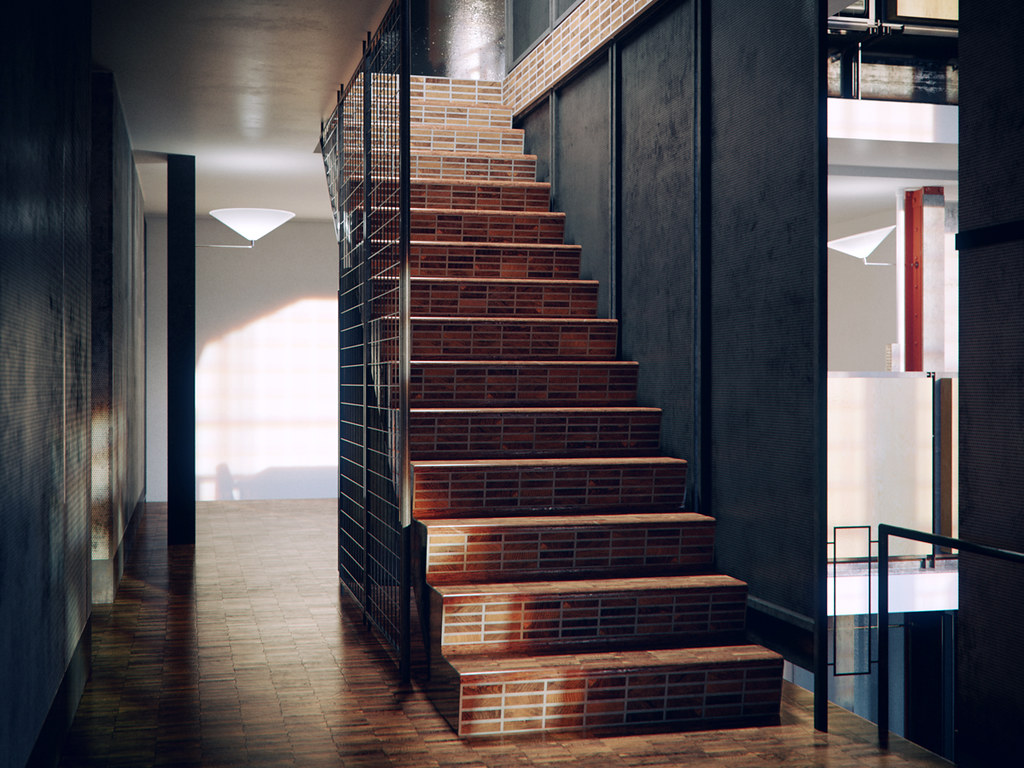 la maison de verre designed by pierre chareau modeled in flickr. Black Bedroom Furniture Sets. Home Design Ideas