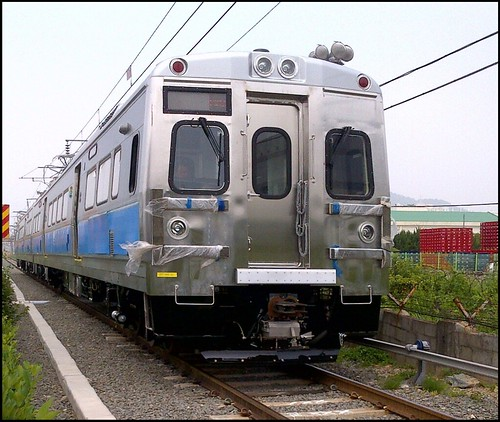 Photo Of Commuter Rail Car Running In Testing
