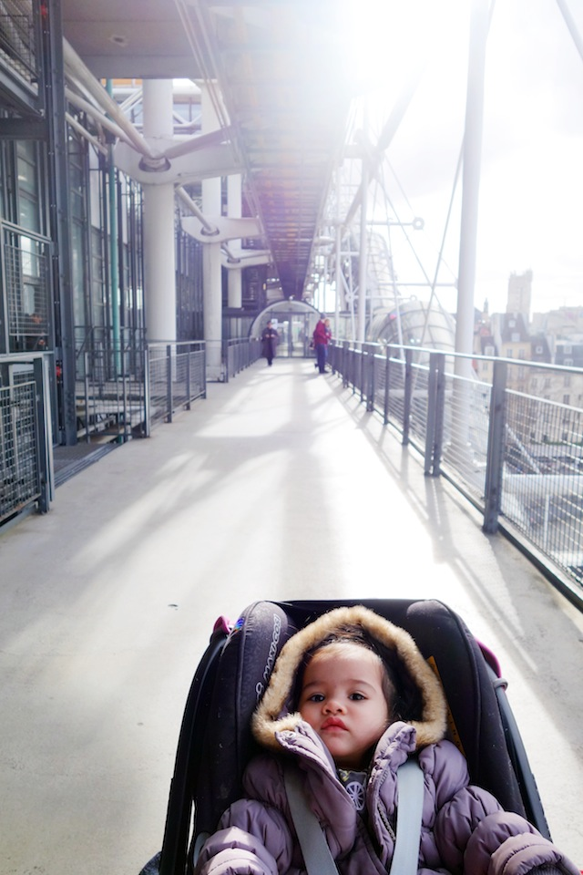 Paris Centre Georges Pompidou with stroller