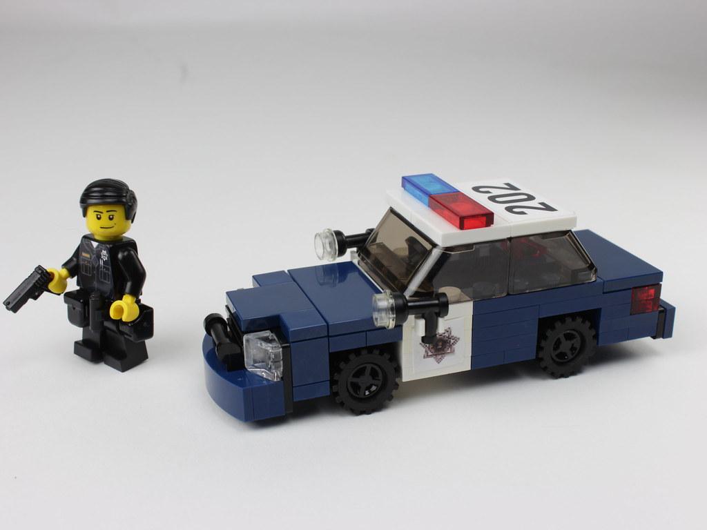 LEGO San Jose Police Crown Victoria Using very rare dark Flickr