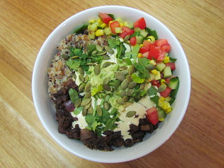 Mexican Bowl with Quinoa, Farro and Amaranth Trio