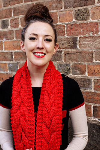 Chunky Cowl Red #4