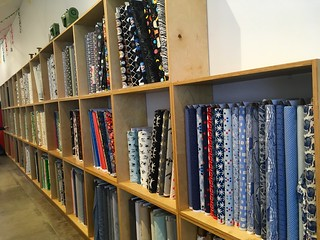 Fabric at Spool of Thread sewing shop