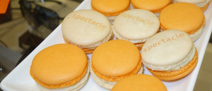 Spectacle emblazoned cookies at the Celine designer trunk show