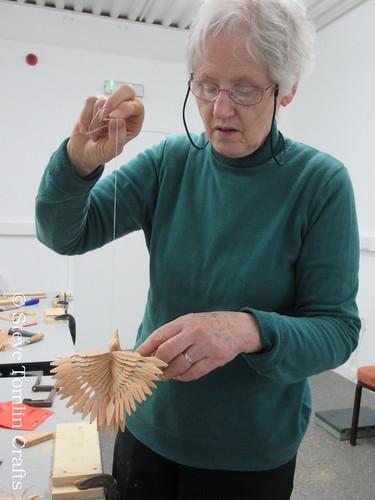 Fan bird carving workshop