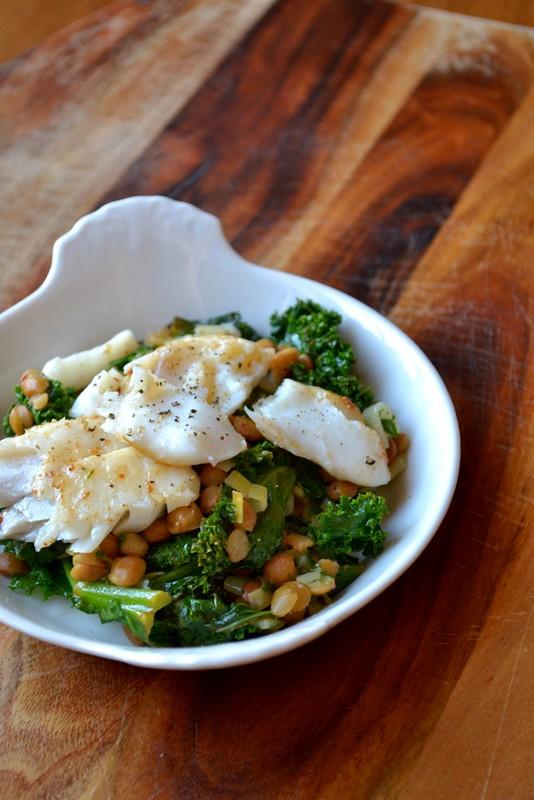 鳕鱼绿扁豆沙拉食谱