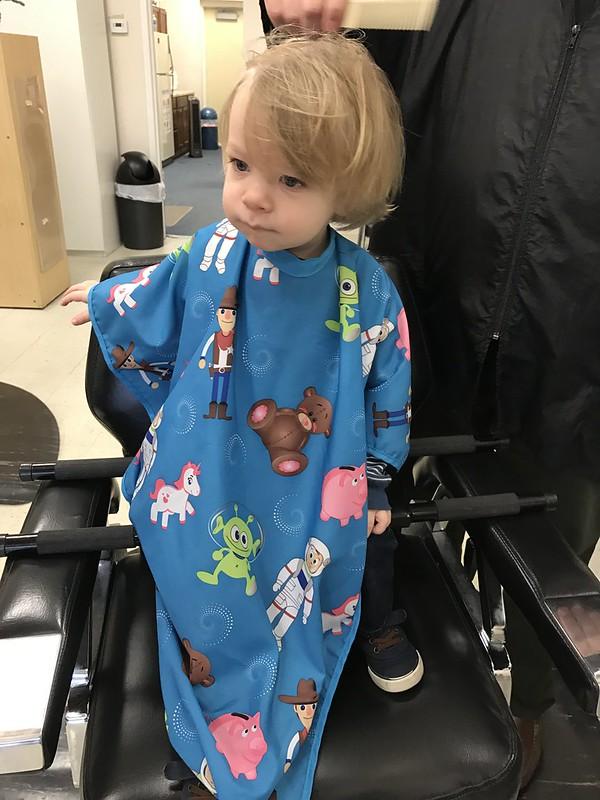 Landon's First Haircut 3/30/2017