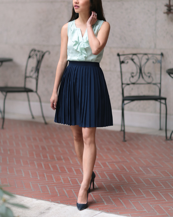modcloth spring work outfit petite fashion blog