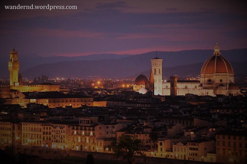 Blick vom Piazzale Michelangel auf den Duomo
