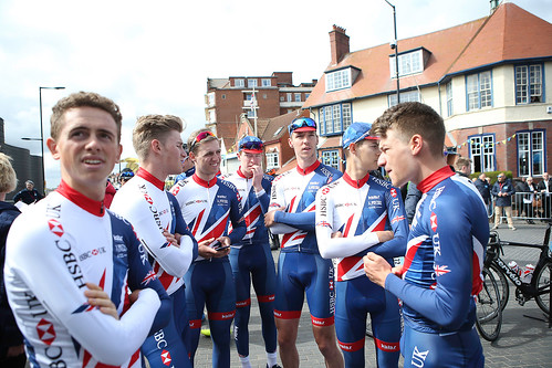 Great Britain Cycling Team at the 2017 Tour de Yorkshire - stage one