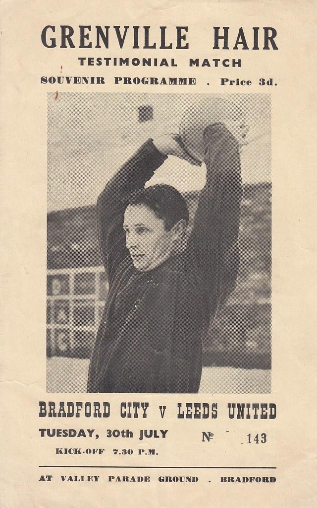 1967 68 Bradford City V Leeds Grenville Hair Testimonial Flickr