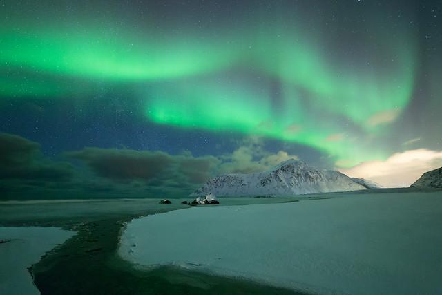 Northern lights at Flakstad