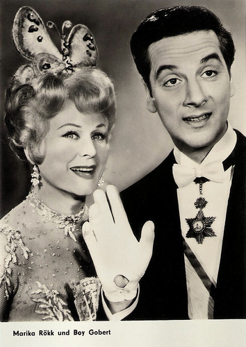 Marika Rökk and Boy Gobert in Die Fledermaus (1962)
