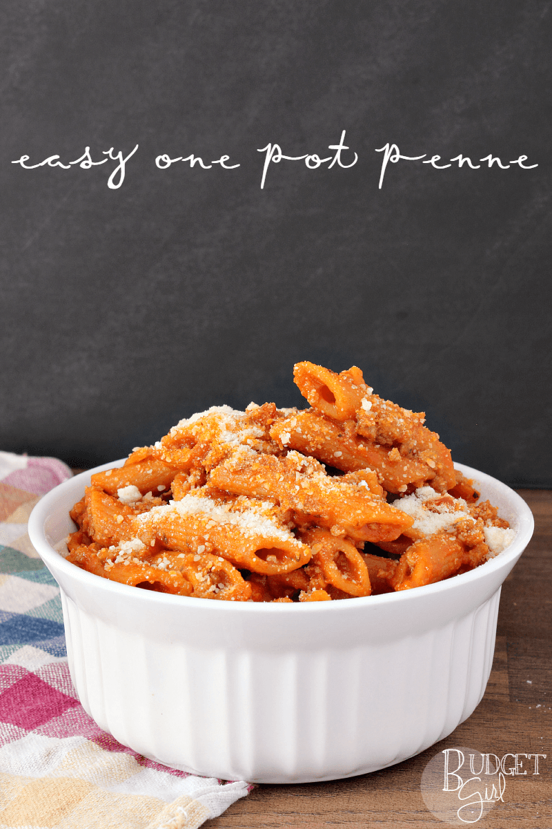 Easy One Pot Penne