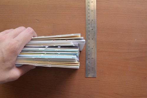3. Measure the height of your card stack.