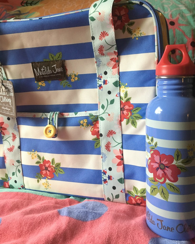 Matilda Jane May Cooler and water bottle